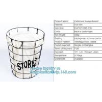 China Customized Wire Diameter Stock Pot Cooking Wire Mesh Metal Storage Basket, Industrial Metal Wire Storage Basket With Han on sale