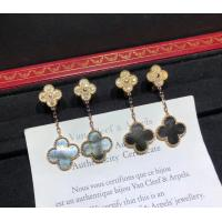 Wholesale 2 Motifs 18K Rose Gold Magic Alhambra Earrings With Grey Mother Of Pearl from china suppliers