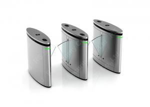 China Stainless Steel Flap Barrier Gate Optical Turnstile, Rfid Reader Security Turnstiles on sale