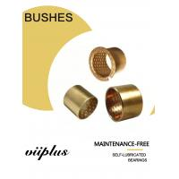China Cylindrical Bushes Bronze Plain Sleeve Bearings With Grease Reservoirs Oil Holes for sale