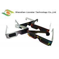 Wholesale Colorful Printing Paper Passive 3D Glasses Solar Eclipse Glasses Custom Brand Logo from china suppliers