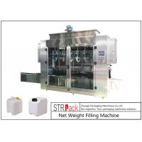 Wholesale Pesticide Liquid Weighing Filling Machine10-16 B / MIN To Fill 5 - 25L Drums And Jerrycans from china suppliers