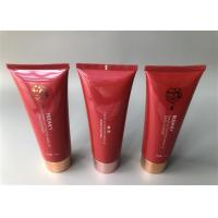 China Pearlescent POCMEY Empty Plastic Lotion Tubes With Straight Flat Cap for sale
