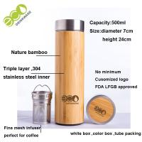 China Personalized Bamboo Tea Infuser Bottle Bamboo Drink Bottle Height 24 Cm for sale