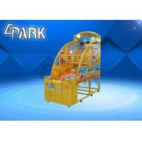 Happy Baby Amusement Basketball Shooting Game Machine Coin Operated Yellow Color for sale