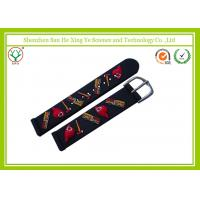 China Unique Black Silicone Watch Band 16mm For Children / Flexible Watch Strap on sale