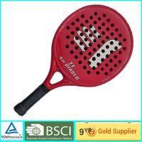 China Red Adult & Kids Beach Paddle Racket Carbon professional paddle ball rackets on sale