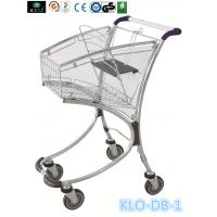 Quality 40L Airport / Supermarket Shopping Trolley Zinc Plated , Presonal Shopping Cart for sale