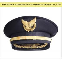 China Hand - Made Military Hats And Caps Police Uniform Army Officer Womens Military Hats on sale