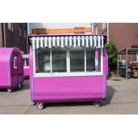 Wholesale Sliding Glass Windows Mobile Food Kiosk Pink Hot Dog Vending Carts from china suppliers