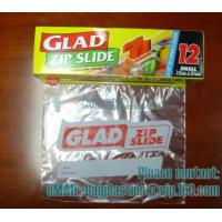 Wholesale Glad Zipper Food Bags, Microwave Bags, Slider Bags, School Lunch Pouch, Slider grip bags from china suppliers