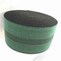 Wholesale 3 Inch Covered Threads Elastic Rubber Upholstery Webbing For Function Sofa In Green Color 460B# from china suppliers
