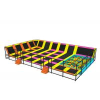 Wholesale Little Kids Trampoline Park With Sponge Blocks Galvanized Steel Pipe Material KP160816 from china suppliers