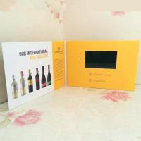 Quality Hard Cover Matt / Glossy A4 Lcd Invitation Video Card , Video Brochure With Muti for sale