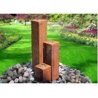 Wholesale Lawn Corten Steel Water Feature Three Column Shape 50 / 70 / 100cm Size from china suppliers