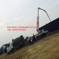 China High Durability Sinotruk Concrete Pumping Equipment With 53 Meters Arms on sale