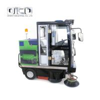 China Outdoor Electric Fuel Drive Type Road Sweeper Truck Street Cleaning Machine With All-closed Cab For Sale for sale