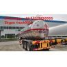 hot sale good quality 28mt 3 axles methyl chloride transport lpg semi-trailer, 35,000Lbulk lpg gas trailer for sale