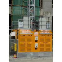 China Yellow Color Building Site Hoist 8 Rack Module With Frequency Control Motors for sale