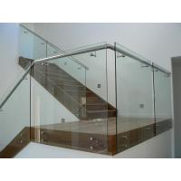 Wholesale Modern style frameless glass balustrade with patch fittings/stainless steel handrails balustrade from china suppliers