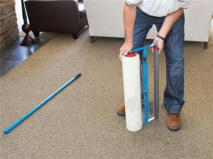 Wholesale Damp Proof 70mic 500ft Clear Carpet Protector Film Pet Friendly Area Damage Free from china suppliers