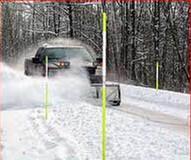 FRP Fiberglass rods applied as snow road marker, driveway marker, hydrant marker