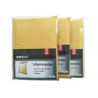 Shrink Bubble Wrap Shipping Envelopes , Light Brown Kraft Padded Mailers Recyclable for sale