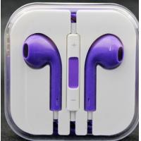 China Colourful OEM Cell Phone Earphones Volume Control With 1.2m Cord Length on sale
