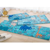 Wholesale Blue Indoor Area Rugs , White Flower Pattern Plastic Floor Carpet from china suppliers