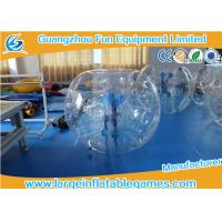 Wholesale Inflatable Transparent Human Knocker Soccer Body Bumper 1.2m / 1.5m / 1.8m from china suppliers