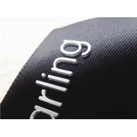 Smooth Black Ribbon Silicone Screen Printing Label Thick Plate White 3D Logo for sale