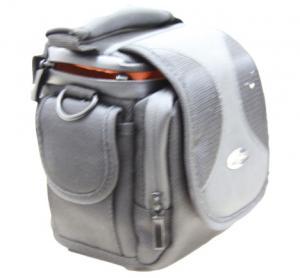 China Portable Black Fabric Thick Water Proof Sponge Nylon Camera Bag With Orange Velvet Lining on sale