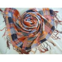 Wholesale Yarn Dyed Checked Cotton Scarf (HP-C262) from china suppliers