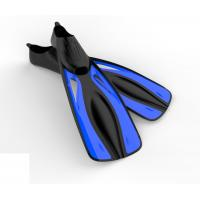 Wholesale PP + TPR Skin Diving Fins Scuba Diving Fins Blue Black With Full Size Blade from china suppliers