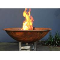 Wholesale Rusty Finish Corten Steel Fire Bowl , Round Steel Fire Pit Corrosion Stability from china suppliers