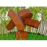 Wholesale Abstract Rusted Metal Sculpture , Contemporary Rusted Steel Garden Art from china suppliers