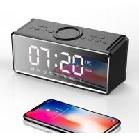 Wholesale QI Wireless Charging Bluetooth Clock Hifi Speaker FM RADIO AUX  TF Card 2018 New Latest from NEWGOOD from china suppliers