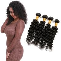 Wholesale 8A Soft Blonde Deep Wave Hair Extensions Natural Black Customized Length from china suppliers