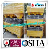 Wholesale Four Drum Spill Containment Pallets , HDPE Oil Drum Containment Pallet Stackable from china suppliers