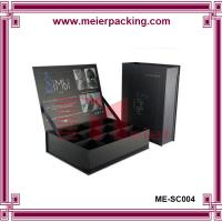 Wholesale Clamshell display paper box, 12 holes square cosmetic box, black gift box ME-SC004 from china suppliers