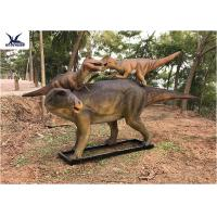 Wholesale Life Size Animatronic Dinosaur Garden Ornaments Mother And Baby Garden Display from china suppliers