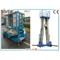 Wholesale Aluminum Alloy Multi Mast Aerial Work Platform 14m Height With 200 kg Load from china suppliers