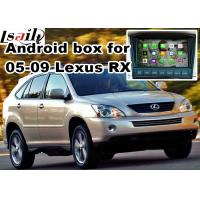Wholesale Lexus RX330 RX400h XU30 2005-2009 Android Navigation Box , mirror link video interface 360 panoram from china suppliers