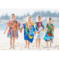 Wholesale Custom Print Beach Kids Hooded Poncho Towel from china suppliers