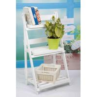 Wholesale 3 Tiers Wooden Outdoor Furniture Flower Pot Stand Foldable 2.9KG For Roomy Storage from china suppliers