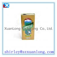Quality metal oil bottle containers for sale