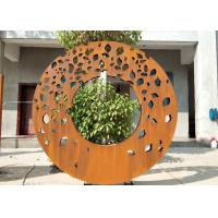 Wholesale Laser Cut Ring Design Contemporary Sculpture Garden Decor Panel Screen from china suppliers