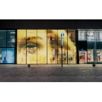 Wholesale Window P10 Indoor LED Video Wall Glasses Curtain Transparent Display Panels from china suppliers