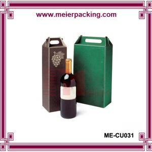Wholesale Wine Bottle Gift Box Paper Box/corrugated cardboard wine box/Cheap customized corrugated paper wine box ME-CU031 from china suppliers