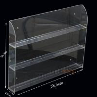 Wholesale Three Tier Clear Acrylic Nail Polish Display , Nail Polish Storage Shelf 385×305×45 mm from china suppliers
